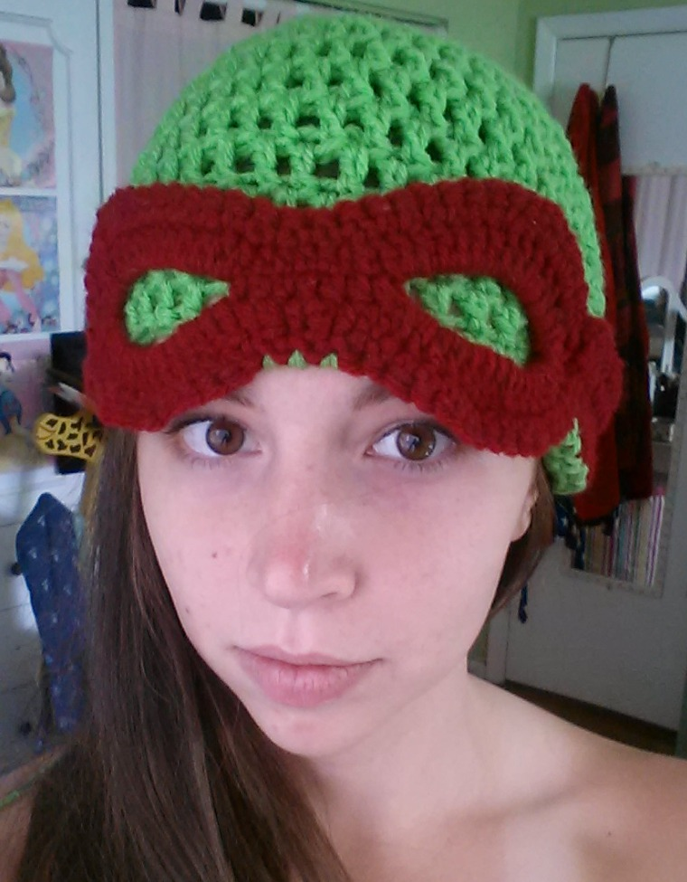 Free Crochet Pattern For Ninja Turtle Hat With Mask : Teenage Mutant Ninja Turtle Beanie Crochet Pattern ...