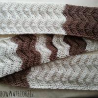 2-Tone Chevron Scarf | Crochet Pattern
