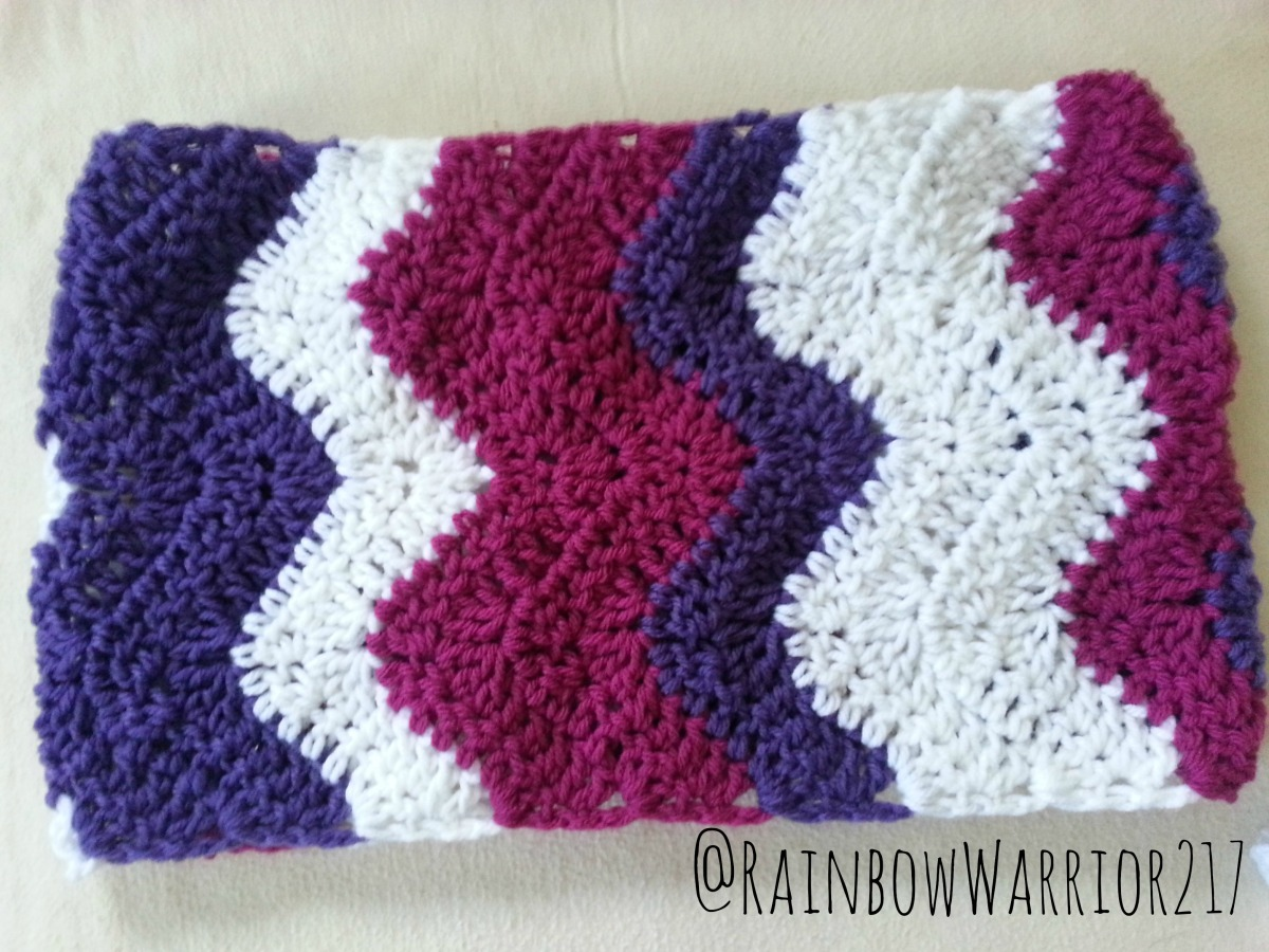 Sharp Chevron Cowl Crochet Pattern - Rainbow Warrior