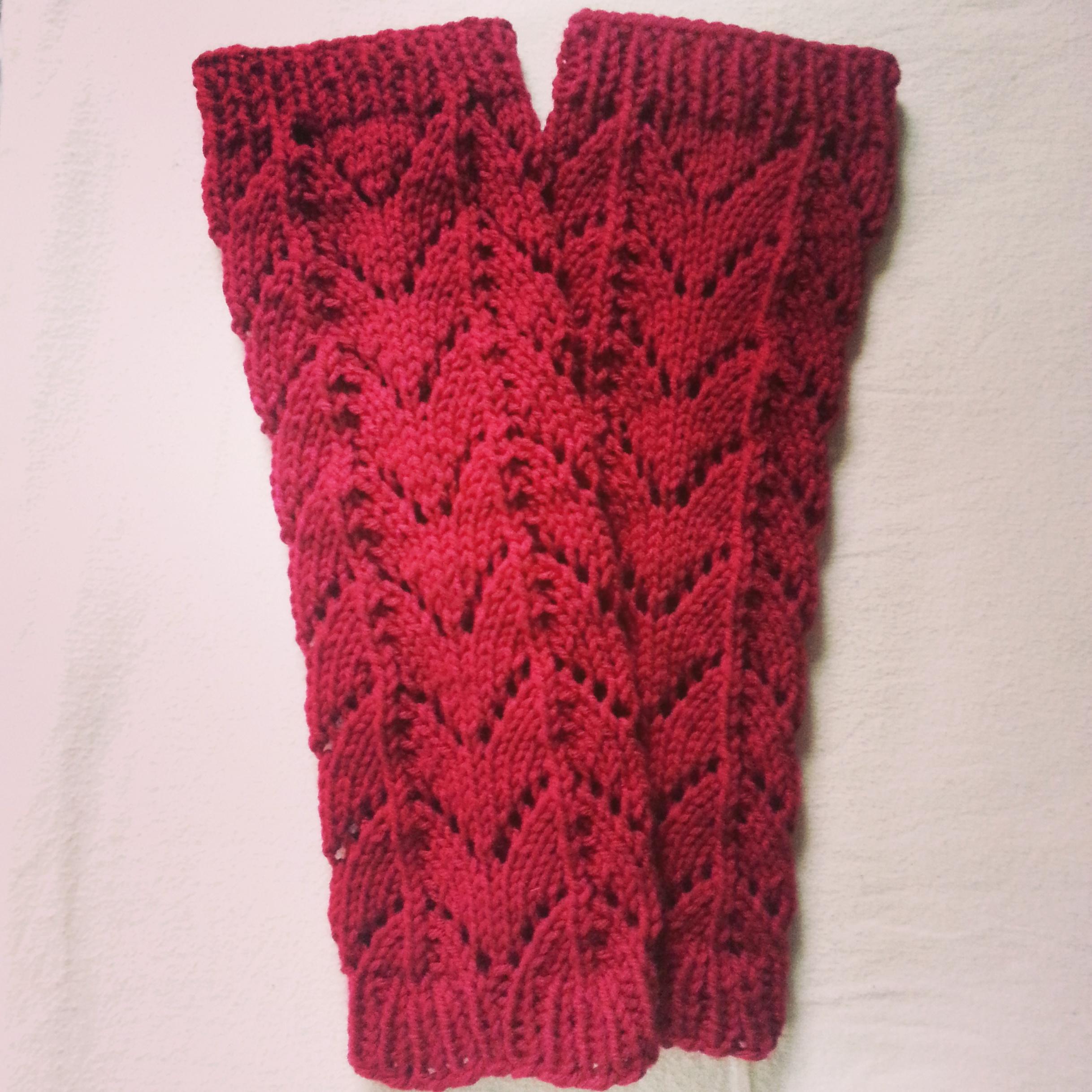 Leg Warmers Knitting Pattern Circular Needles : Lace Leg Warmers Pattern Knit Tutorial   Rainbow Warrior