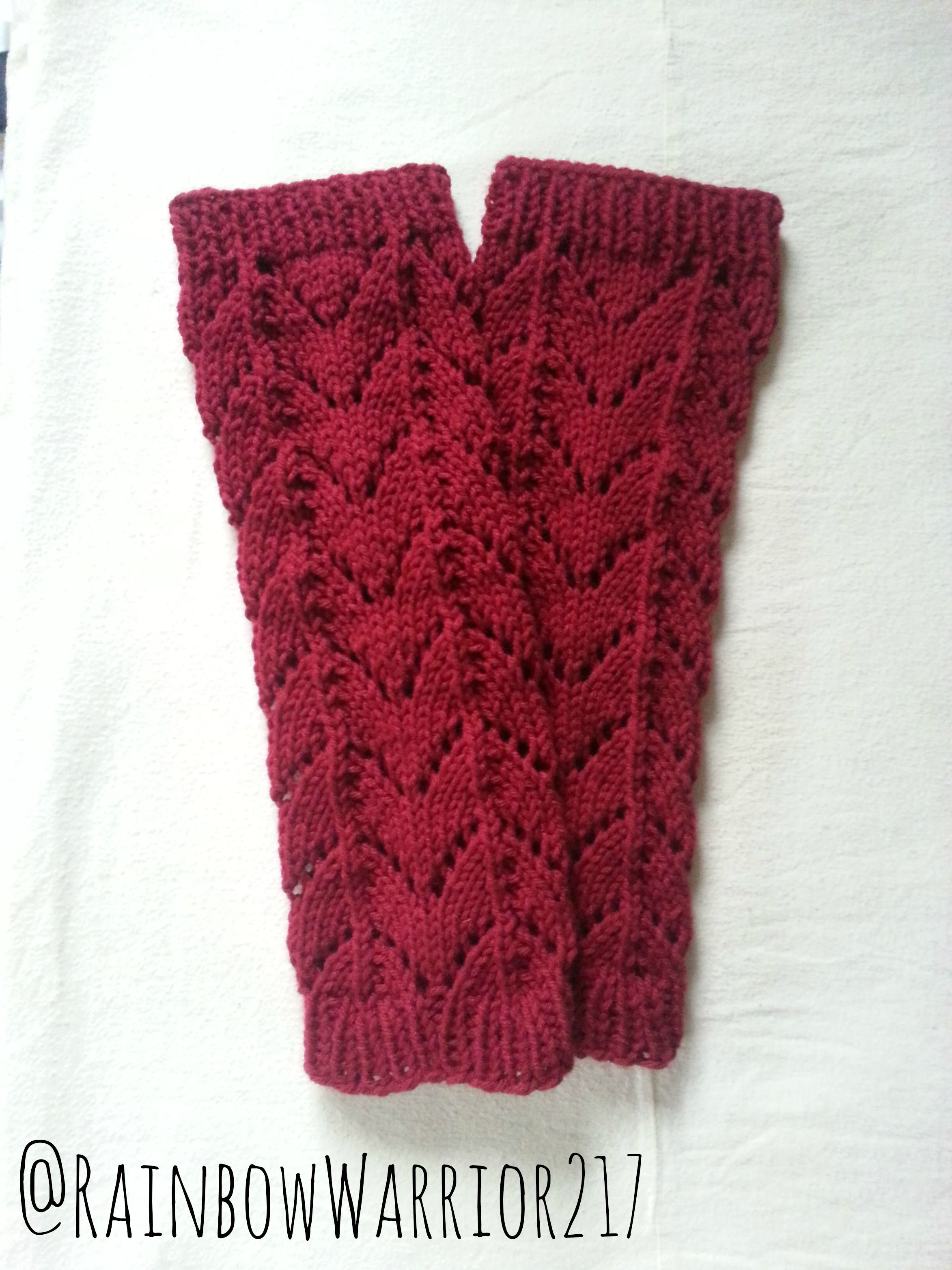 Knitting Leg Warmers Pattern : Lace Leg Warmers Pattern Knit Tutorial   Rainbow Warrior