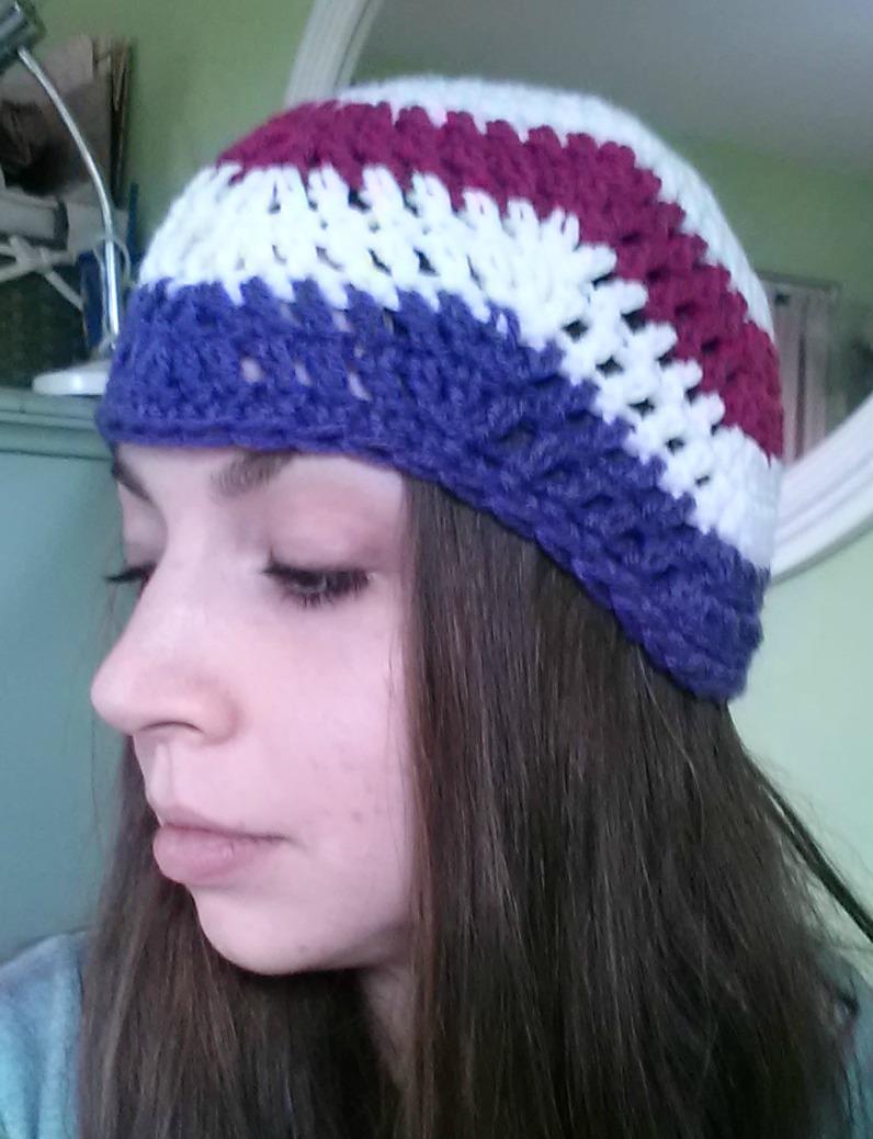 Chevron Beanie Easy Crochet Pattern Tutorial Rainbow Warrior
